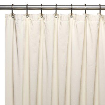 Vinyl 5 Gauge Shower Curtain Liner Color: Bone
