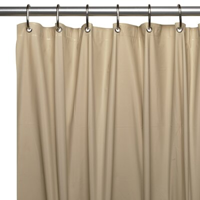 Vinyl 5 Gauge Shower Curtain Liner Color: Linen