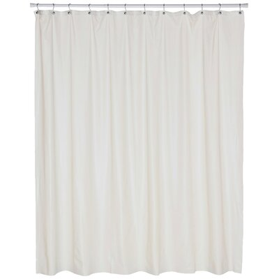 Vinyl Jumbo Shower Curtain Liner Color: Bone