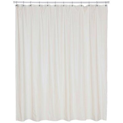 Vinyl Jumbo Shower Curtain Liner Color: Bone