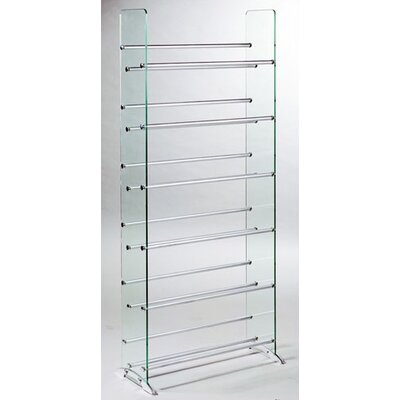 Multimedia Storage Rack Color: Clear