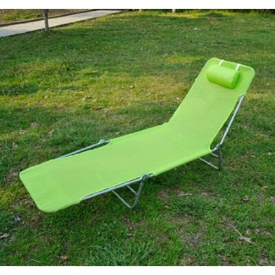 Chaise Lounge Fabric Color: Green