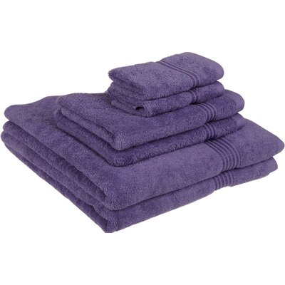 Currie 6 Piece Towel Set Color: Royal Purple