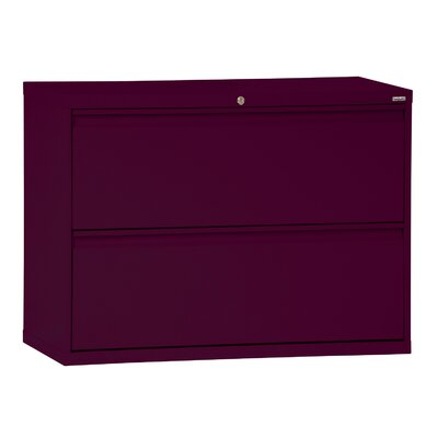 2-Drawer File Finish: Burgundy, Size: 28.375