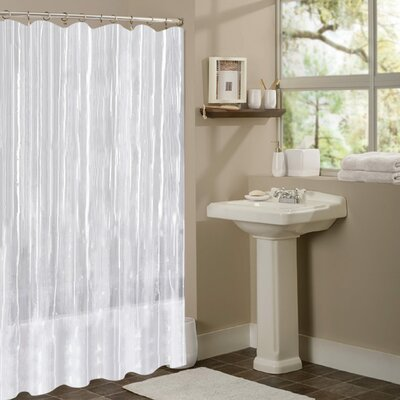 Vinyl Mildew Resistant Shower Curtain Liner Color: Clear