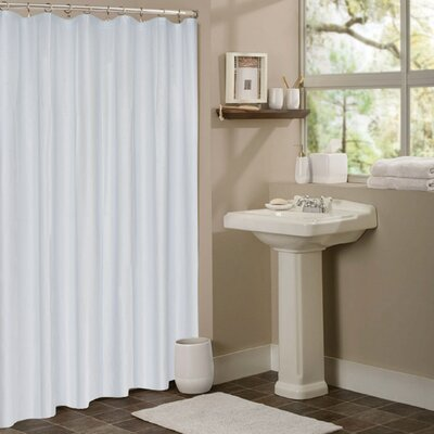 Vinyl Mildew Resistant Shower Curtain Liner Color: Frosted Clear