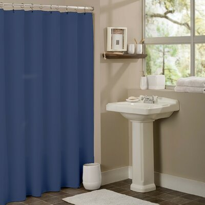 Vinyl Mildew Resistant Shower Curtain Liner Color: Navy