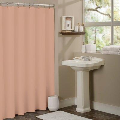 Vinyl Mildew Resistant Shower Curtain Liner Color: Peach