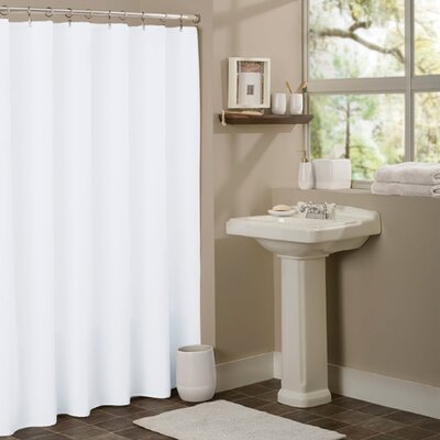 Vinyl Mildew Resistant Shower Curtain Liner Color: White