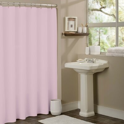 Vinyl Mildew Resistant Shower Curtain Liner Color: Rose