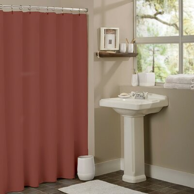 Vinyl Anti-Mildew Shower Curtain Liner Color: Rust