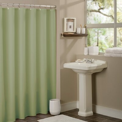 Vinyl Mildew Resistant Shower Curtain Liner Color: Sage