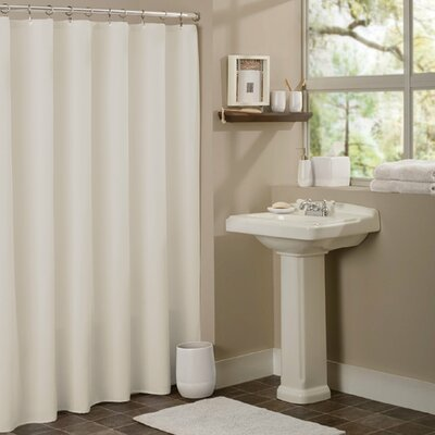 Vinyl Mildew Resistant Shower Curtain Liner Color: Beige