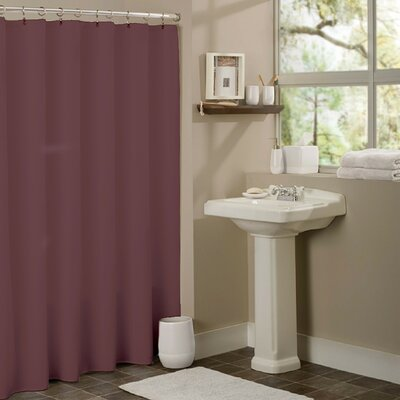 Vinyl Mildew Resistant Shower Curtain Liner Color: Burgundy