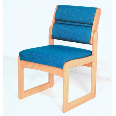Guest Chair Wood Finish: Light Oak, Fabric: Powder Blue, Arms: Not Included