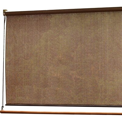 Sun Roll-Up Sheer Solar Shade Size:  72 W x 72 L, Color: Cocoa