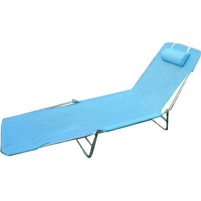 Chaise Lounge Fabric Color: Blue