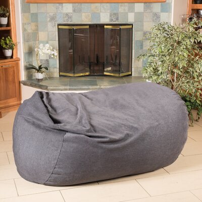 Bean Bag Sofa Upholstery: Midnight Charcoal