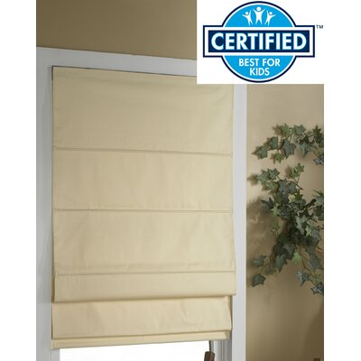 Blackout Roman Shade Color: Ivory, Size:  34 W x 63 L