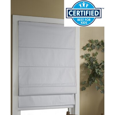 Blackout Roman Shade Size:  36 W x 63 L, Color: White