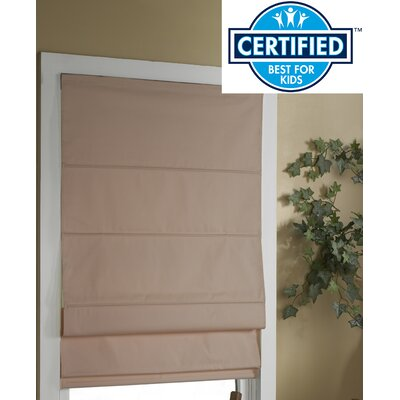 Blackout Roman Shade Color: Linen, Size:  48 W x 72 L