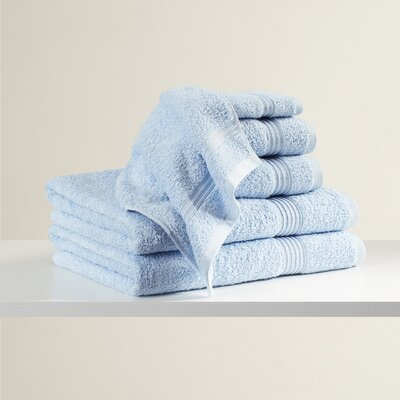Superior 6 Piece Towel Set Color: Sky Blue