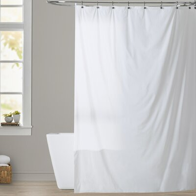 Bouldin Creek Vinyl Shower Curtain Liner Color: White