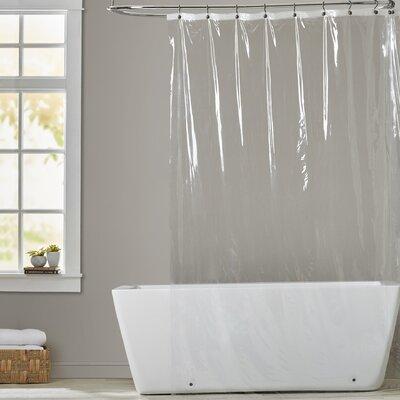 5 Gauge Shower Curtain Liner Color: Super Clear