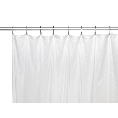 5 Gauge Shower Curtain Liner Color: Frosted Clear