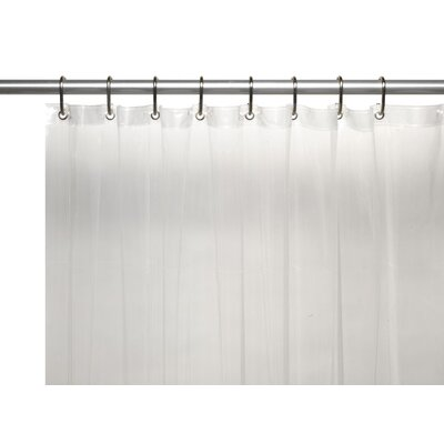 Utilitarian Heavy Duty Shower Curtain Color: Super Clear