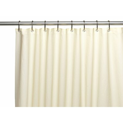 10 Gauge Shower Curtain Color: Ivory
