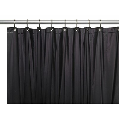 Vinyl 5 Gauge Shower Curtain Liner Color: Black
