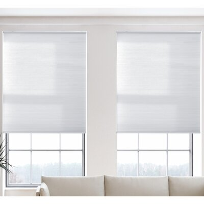 Cordless Light Filtering Cellular Shade in Pure White