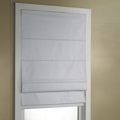 Blackout Roman Shade Size:  34 W x 63 L, Color: White