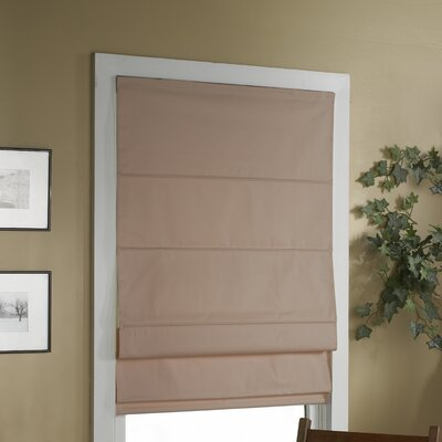 Blackout Roman Shade Size:  38 W x 63 L, Color: Linen