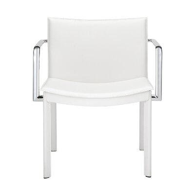 Conference Armchair Seat Color: White