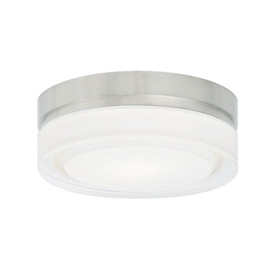 1-Light Flush Mount Finish: Chrome, Size: 2.2 H x 11 W x 11 W, Bulb Type: 1x20W 120V 2700K LED