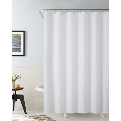 Vinyl Water Proof Shower Curtain Liner Color: White