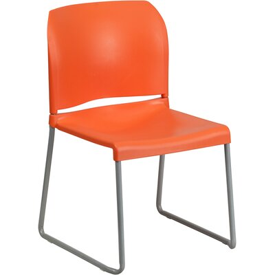 Contoured Stack Guest Chair Seat Color: Orange
