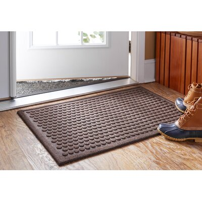 Bouffard Dot Impressions Mat Mat Size: Rectangle 3 x 4, Color: Chocolate