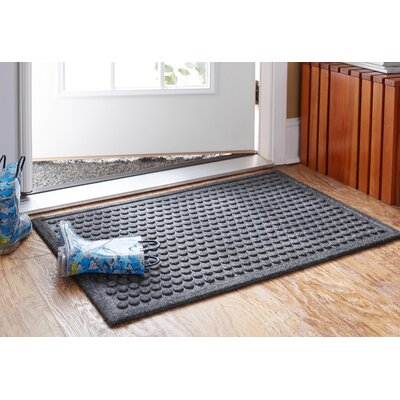 Bouffard Dot Impressions Mat Mat Size: Rectangle 2 x 3, Color: Charcaol