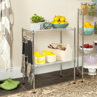 Chrome Microwave Cart