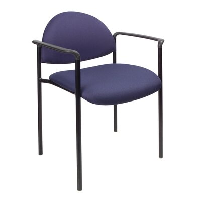 Contemporary Stackable Guest Chair Seat Finish: Blue Fabric, Arms: With Arms
