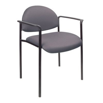 Contemporary Stackable Guest Chair Seat Finish: Gray Fabric, Arms: With Arms