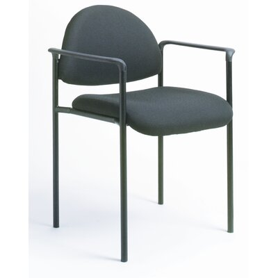 Contemporary Stackable Guest Chair Seat Finish: Black Caressoft, Arms: With Arms