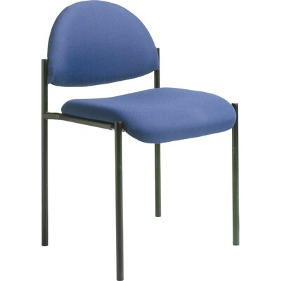 Contemporary Stackable Guest Chair Seat Finish: Blue Fabric, Arms: Without Arms