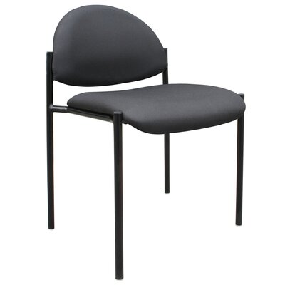 Contemporary Stackable Guest Chair Seat Finish: Black Fabric, Arms: Without Arms