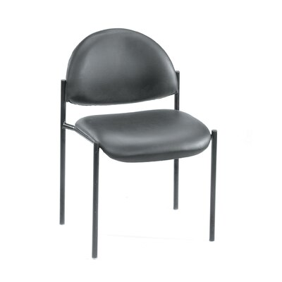 Contemporary Stackable Guest Chair Seat Finish: Black Caressoft, Arms: Without Arms