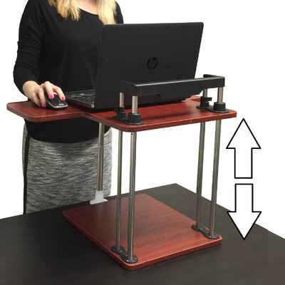 17 H x 25 W Standing Desk Conversion Unit Color: Cherry