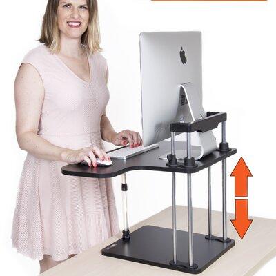 17 H x 25 W Standing Desk Conversion Unit Color: Black